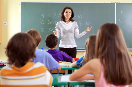 Teacher and student on a lesson